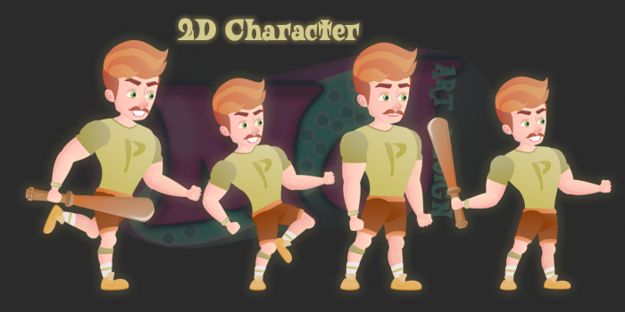 Cute Man 2D Game Character