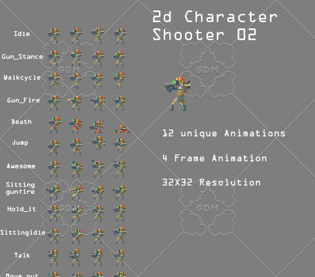 2d Character shooter 02