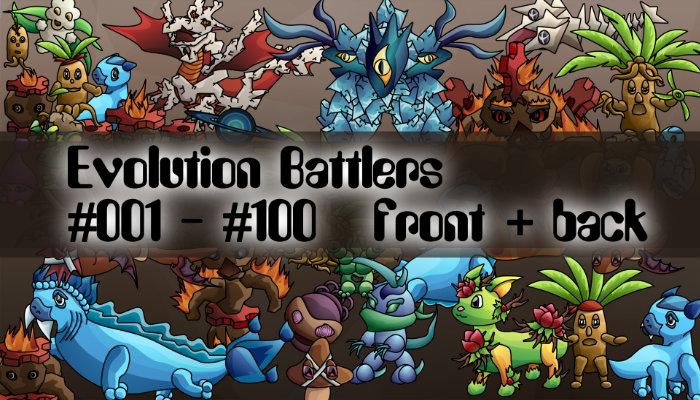 Evolution Monsters #001 – #100 Pack