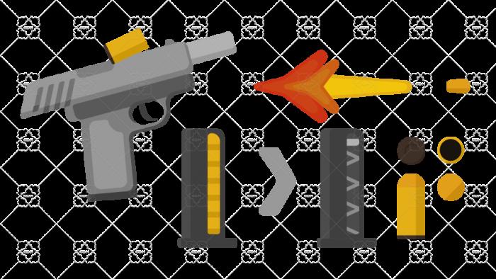 Pistol with magazine