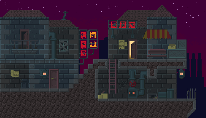 Night City Tileset