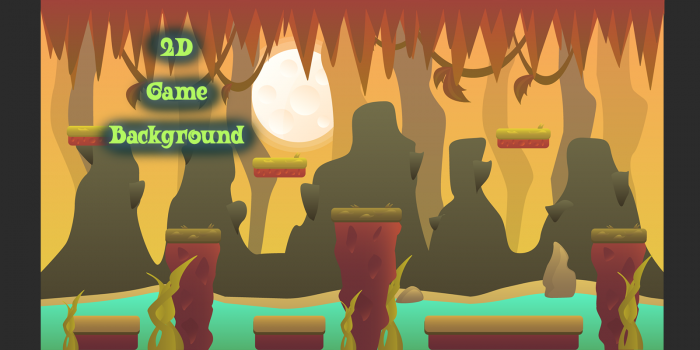 FREE 2D Vector Game Background 2