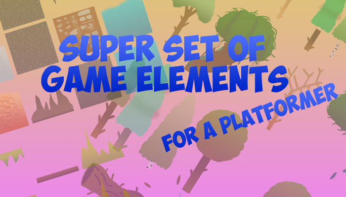 Super set of game elements for a platformer