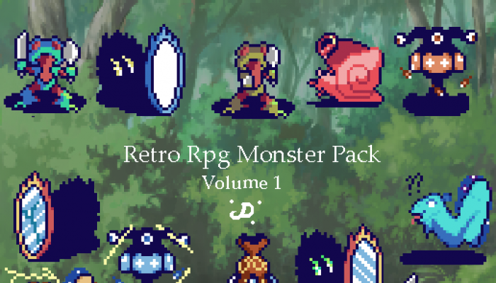 Retro Rpg Monster Pack V1