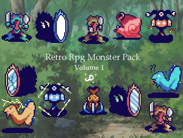 Retro Rpg Monster Pack V1