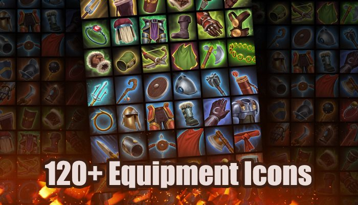 120+ Equipment Icon Pack