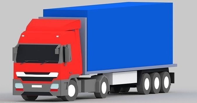 truck low poly