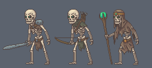 2d Animated Fantasy Skeletons