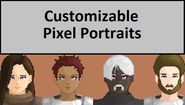 Customizable Pixel Portraits