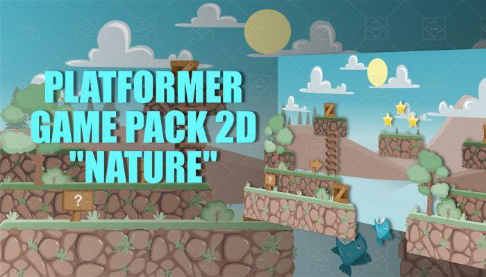 """Platformer game pack 2D """"Nature"""""""