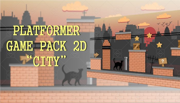 "PLATFORMER GAME PACK 2D ""CITY"""