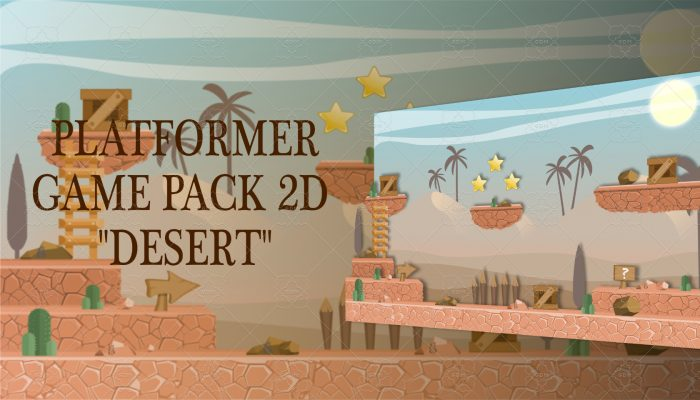 "PLATFORMER GAME PACK 2D ""DESERT"""