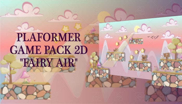 "PLATFORMER GAME PACK 2D ""FAIRY AIR"""
