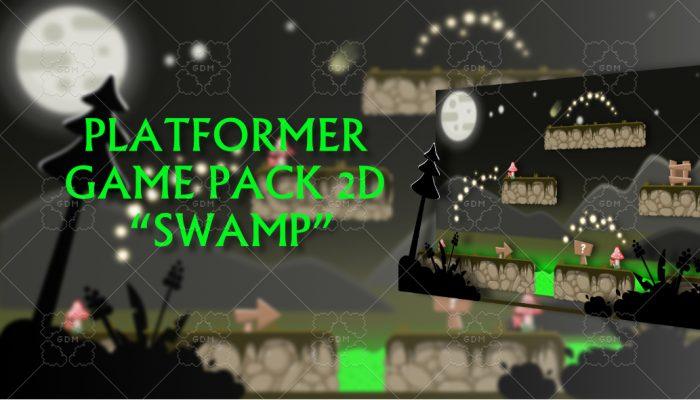 """PLATFORMER GAME PACK 2D """"SWAMP"""""""