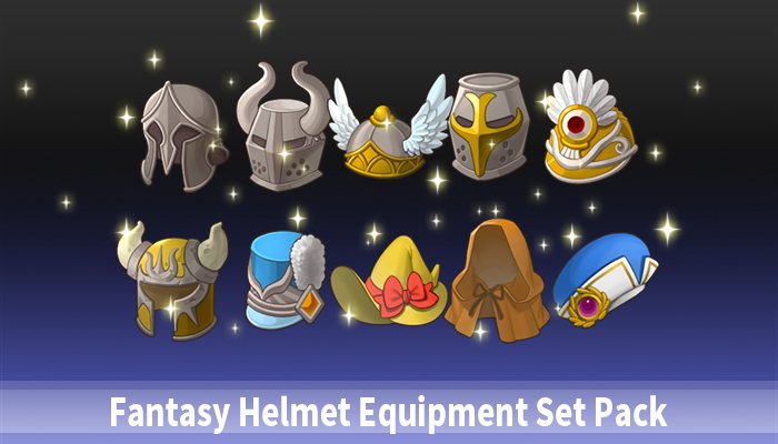 Fantasy Helmet Equipment Set Pack