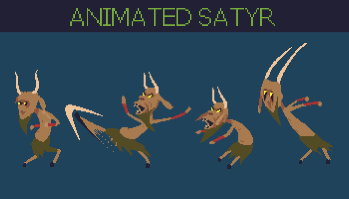 Animated satyr