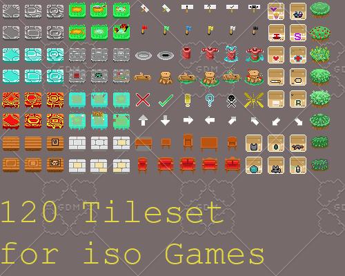 Isometric game Tileset