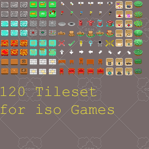 Isometric game Tileset