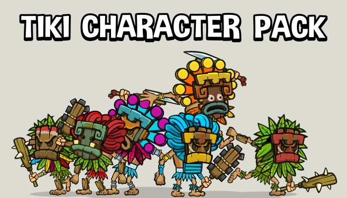 Tiki temple game character mega pack