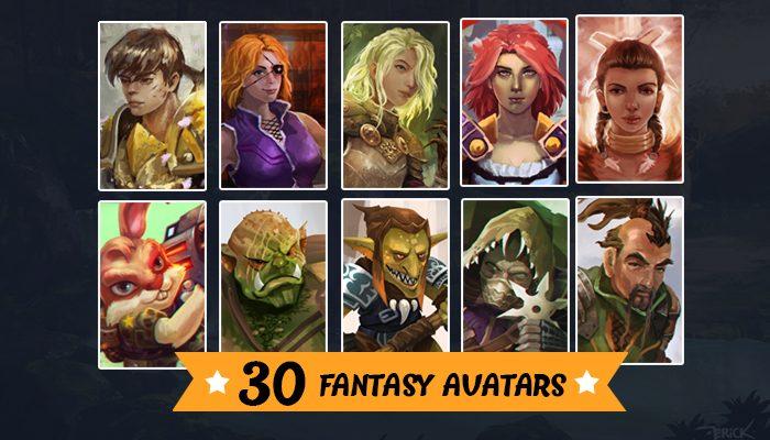 30 Fantasy Avatars