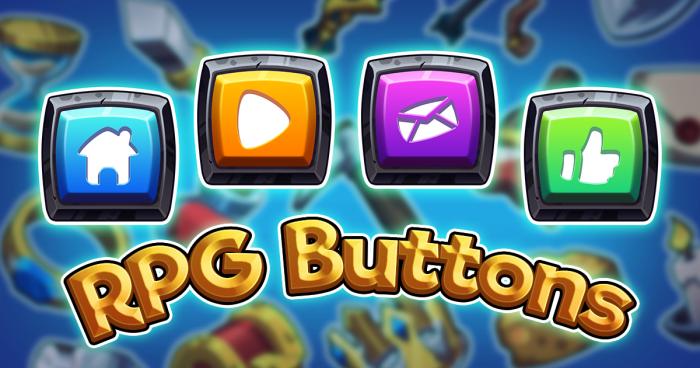 Cute RPG Button Set