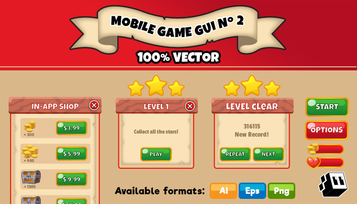 Mobile Game GUI Pack Nº 02