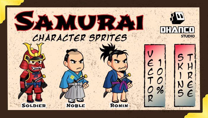 Samurai Character Sprites