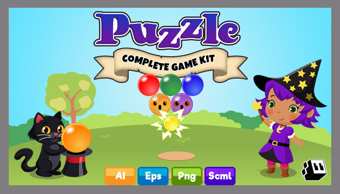 Puzzle Bubble Style Game Kit
