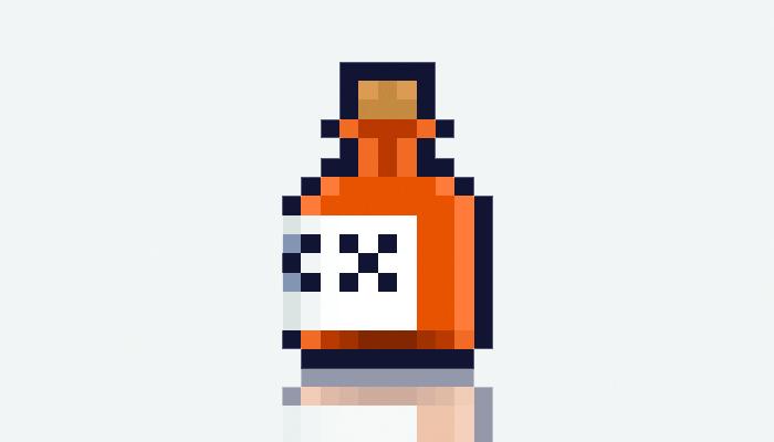 Animated rhum bottle
