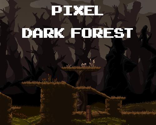Pixel Dark Forest Platformer