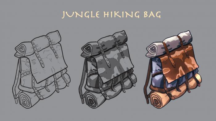 jungle hiking bag