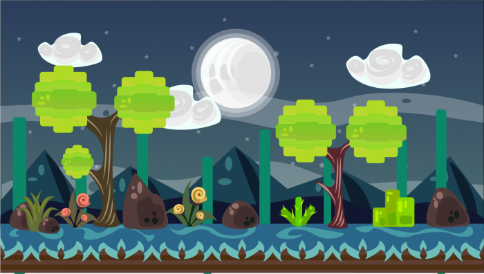 2D Vector Game Background 9