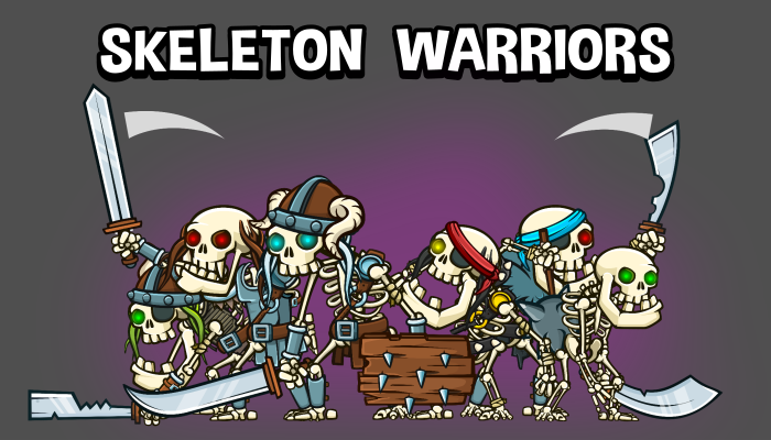 Skeleton warrior mega game sprite pack