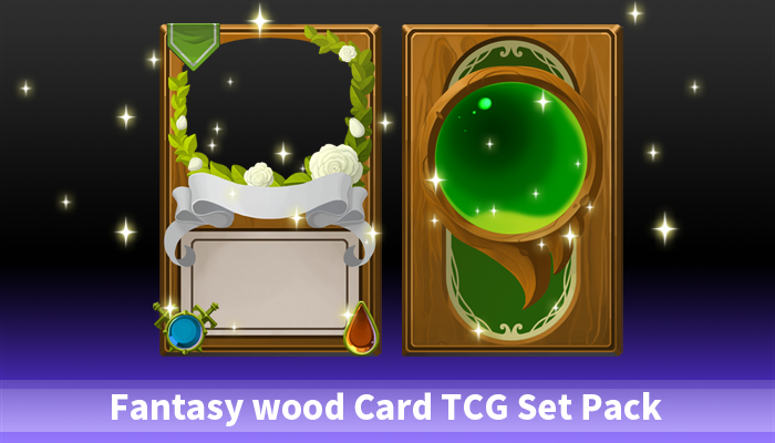 Fantasy wood Card TCG Set Pack