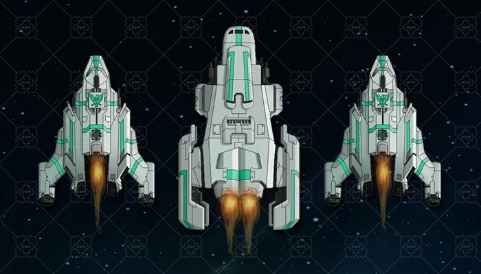 Sci Fi Enemy Bosses TOP DOWN SPACE SHIP