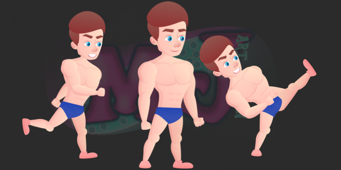 swimmer 2D Game Character