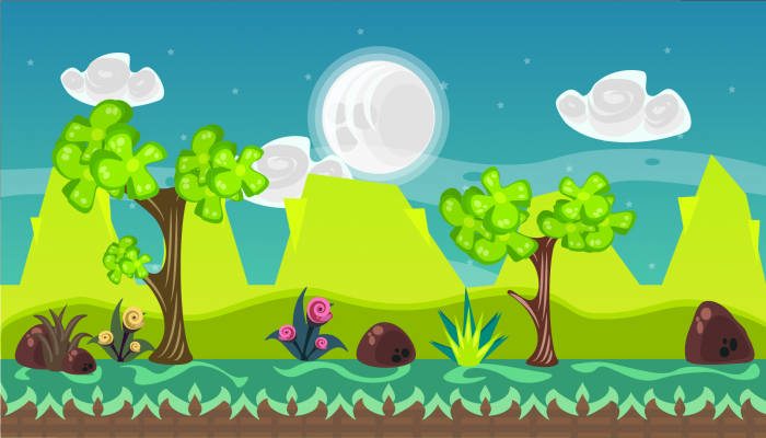 2D VECTOR GAME BACKGROUND 7
