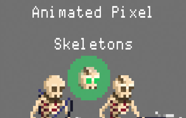 Animated Pixel Skeletons