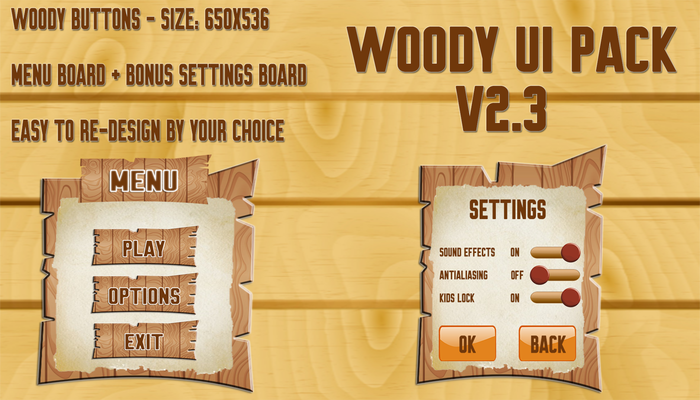 Woody Buttons
