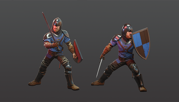 Medieval Swordsman 3d Character