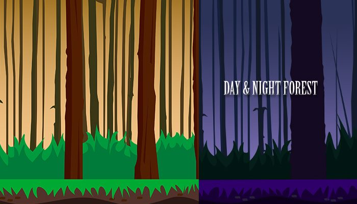 Day & Night Forest Parallax Background