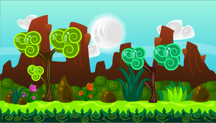 2D Vector Game Background 6