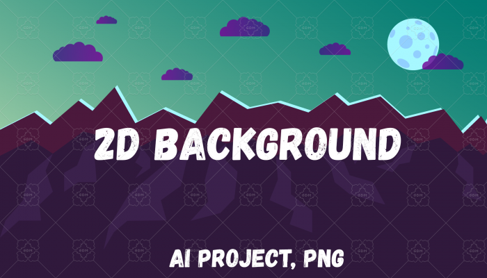 2D – Vector Night Background