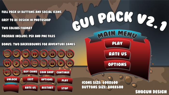 Game UI Pack V2.1