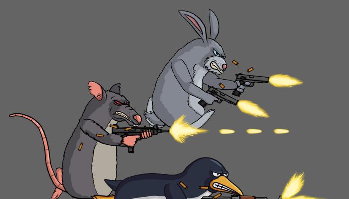 2D Animated Mercenary Characters
