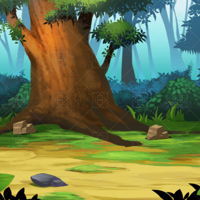 Sidescroll Forest Background