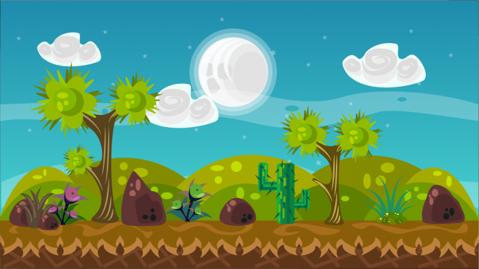 2D Vector Game Background 5