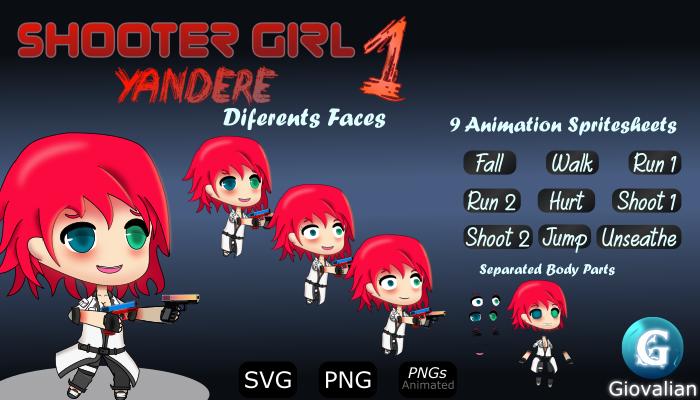 Shooter Girl 1 Yandere