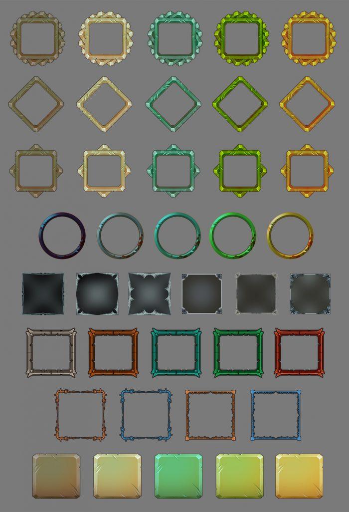 Game frame set pack