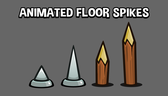 Animated floor spikes game asset